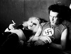 Sid and Nancy.Sid was so stoned that he don´t want to give an interview there on 1978