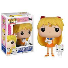 This is a Funko Sailor Moon Venus with Artemis POP Vinyl Figure. Standing 3.75 inches tall, the Sailor Moon Venus figure is super cute! It's great to see that the Sailor Moon characters finally got th