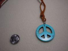 A big peace sign necklace, so boho chic!