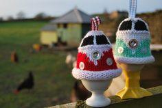 Funny! VW Campervan Egg Cosy Knitting Pattern Kombi by SnuginaDub on Etsy, £1.75