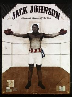 Jules' work is incredible. I think they are perfect for a deeply moving ad campaign. (I am such an ad whore) cred: Jules Arthur http:/. Black Artists, New Artists, Jack Johnson Boxer, Harlem Renaissance Artists, Boxing Drills, Heavyweight Boxing, Boxing Posters, Female Poets, Boxing History