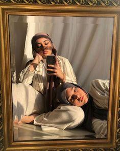 just want a gold mirror #muslim #aesthetic #muslimfashion #hijabi Hajib Fashion, Modern Hijab Fashion, Street Hijab Fashion, Hijab Fashion Inspiration, Muslim Fashion, Aesthetic Fashion, Aesthetic Clothes, Fashion Outfits, Mode Ootd
