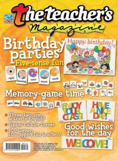 The Teacher's Magazine N° 165 Teacher Magazine, Time Games, Memory Games, Teaching English, Best Part Of Me, Happy Birthday, Education, Escape Room, Fun