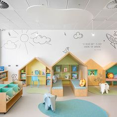 Our community of Architects, Interior Designers and Builders create inspiring sp… Our community of Architects, Interior Designers and Builders create inspiring spaces using Gibbon Group flooring. We are an Australian distributor who represent high quality Kindergarten Interior, Kindergarten Design, Daycare Design, School Design, Library Design, Learning Spaces, Design Hotel, Kids Corner, Kid Spaces