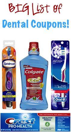 BIG List of Dental Coupons: $2.00 off 1 Colgate, $1.50 off 1 Oral-B, $1.00 off 1 Spinbrush + more!