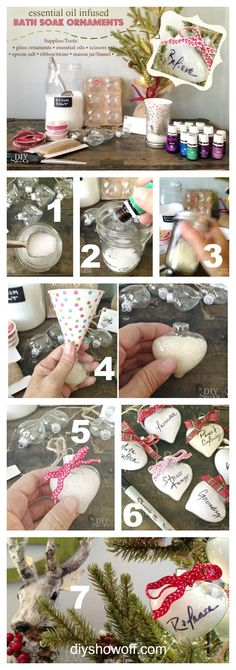DIY essential oil infused bath soak Christmas ornament gift tutorial /diyshowoff/