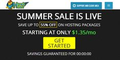 HawkHost Summer Sales - Up to 55% OFF For Life On Web Hosting.   #hawkhost #coupon #deal #webhosting Summer Sale, Get Started, Coupons, Life, Coupon