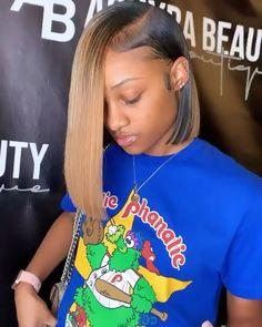 Weave Bob Hairstyles, Braids Hairstyles Pictures, Baddie Hairstyles, Black Women Hairstyles, Short Sew In Hairstyles, Ponytail Hairstyles, Birthday Hairstyles, Bob Weave, Hair Laid