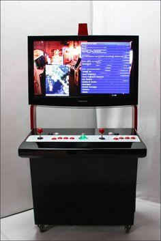 Menuisier pour borne d'arcade personalisée et meuble Geek.