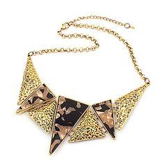 Creux collier Vintage Trois Triangle (couleurs assorties)