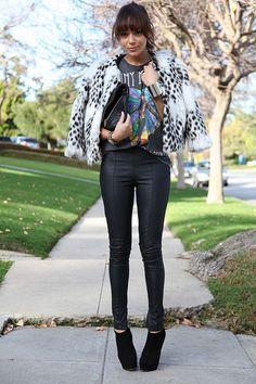 Image via We Heart It #blog #blogger #coat #fauxfur #print #fauxfurcoat #ashleymadekwe #ringmybell