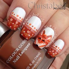 .@christabellnails   What Does a fox Say had so much fun doing these nails for Day 4 @J R...   Webstagram - the best Instagram viewer