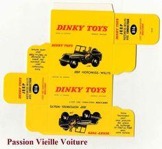 DINKY TOYS 816 : JEEP HOTCHKISS WILLYS boite repro / box COPIE AVEC AUTORISATION   eBay