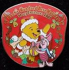 JAPAN POOH'S HUNDRED ACRE HOLIDAY MERRY CHRISTMAS 2001 PIGLET SLIDER PIN