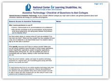 Assistive Technology - College Checklist College Checklist, Assistive Technology, Ads, Student, Education, School, Technology, Teaching, Onderwijs