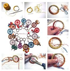 DIY dream catcher key chains and other designs. These would make for great gifts