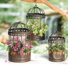 How to Create a Birdcage Flower Garden  Balcony Garden Web