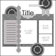 3 fotos, una de 4x5.25, otra de 3x3 y otra de 2.25x3 pulgadas