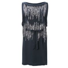 French connection silver simmons maxi dress