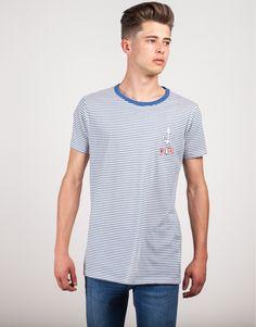 camiseta rayas finas y parches
