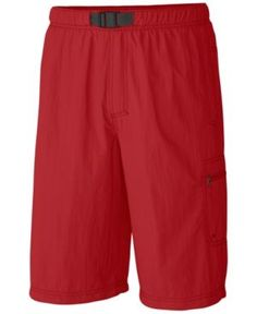 Columbia Men's Palmerston Peak Performance Sun Protection Cargo Shorts - Pink M