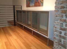 HOME: Sideboard from Glass Cupboards in Brilliant White