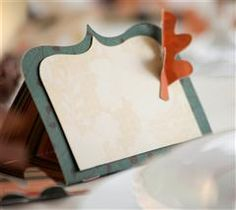These simple place cards would accent any table! #Cricut