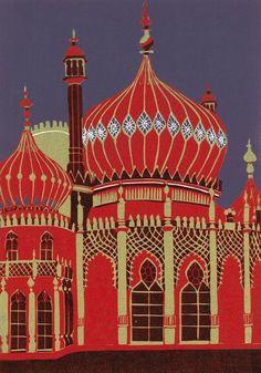 Jemmie Ing - Brighton Pavilion (Linocut)