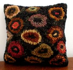 Primitive FolKart  Cat Claws Hooked Rug Pillow  Hooked Rugs on Etsy, $160.11 CAD