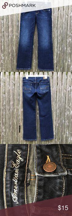 American eagle jeans sz 6 Dark wash American eagle favorite boyfriend jeans sz 6 short excellent condition ❤️ American Eagle Outfitters Jeans Boyfriend