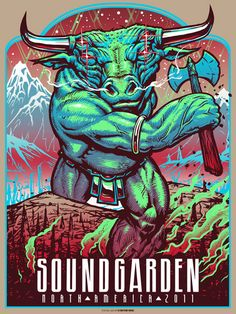 Munk One soundgarden poster for sale Rock Posters, Band Posters, Event Posters, Retro Posters, Festival Posters, Concert Posters, Psychedelic Music, Music Artwork, Sale Poster