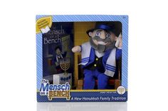"Mensch on a Bench (12"" Moshe and Hardcover Storybook)    someone get this for us Hanukkah, please!"
