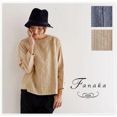 【Fanaka ファナカ】 ダブルガーゼ ピンタック レース プルオーバー ブラウス (62-2115-107)