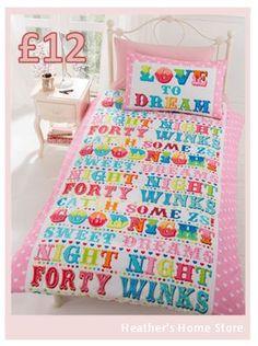 Pretty single bedding £12 #childsbedding #bedding #bedroom #buyfromme