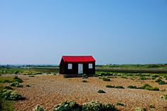 Beach hut with red roof, Rye Harbour - Rye East Sussex Rye England, England Ireland, Rye Sussex, East Sussex, Dublin Travel, Ireland Travel, Rye Harbour, Scotland Travel Guide, England Beaches
