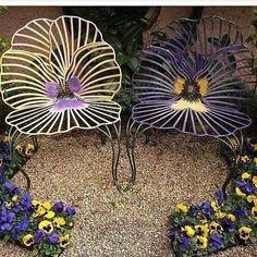 Unusual Furniture, Metal Furniture, Garden Furniture, Metal Chairs, Cool Chairs, Lounge Chairs, Dining Chairs, Source D'inspiration, Metal Design