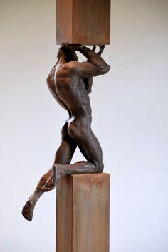 Modern Sculpture, Abstract Sculpture, Art Masculin, Masculine Art, Anatomy Sculpture, African Art Paintings, Photos Originales, Art Of Man, Art For Art Sake