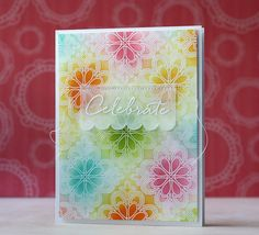 Celebrate Card by Laura Bassen for Papertrey Ink (August 2014)