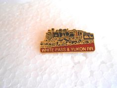 Vintage White Pass & Yukon RR Railroad Steam Locomotive Souvenir Enamel Pin picclick.com