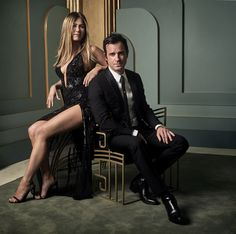 Mark Seliger's Vanity Fair Oscar Party Portraits. Jennifer Aniston and Justin Theroux. 2017