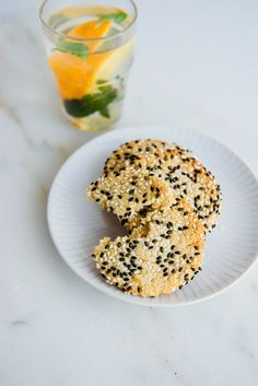Orange Honey Tahini Cookies