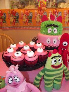 Cupcakes at a YoGabbaGabba Party