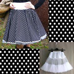 Kolová sukně + spodnička  24a8d1a52e