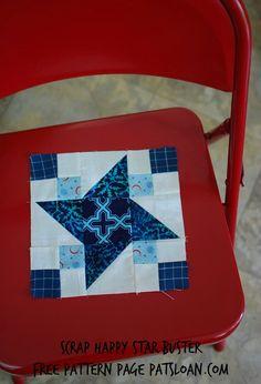 scrap happy star block