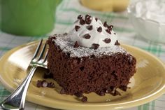 This homemade chocolate cake recipe features one special ingredient: sour cream. It's what makes the cake taste so moist and heavenly!