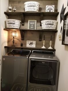 Wonderful laundry room for design small spaces ideas. Wonderful laundry room for design small spaces ideas. Wonderful laundry room for design small spaces ideas Small Laundry Rooms, Laundry Room Organization, Laundry Room Design, Laundry In Bathroom, Basement Laundry, Laundry Room Shelving, Budget Bathroom, Laundry Closet Makeover, Bathroom Closet