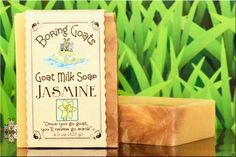 """""""Jasmine"""" Goat Milk Soap. Close your eyes and let this scent take you away... to where, we're not quite sure... but I'm sure you'll like it."""