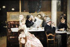 Henri Gervex (1852–1929) - Cafe Scene in Paris, 1877