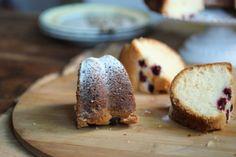 Vintage Kitchen Notes: White Chocolate Raspberry Bundt Cake #BundtaMonth