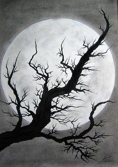 Dark drawings – Pencil art – Moon drawing – Drawings – Art – Art drawings – Orofino by katie – - Everything About Charcoal Drawing and Sculpture Dark Drawings, Pencil Art Drawings, Art Drawings Sketches, Arte Emo, Moon Drawing, Charcoal Art, Autumn Art, Art Lesson Plans, Halloween Art